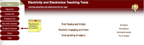 Electricity and Electronics Teaching Tools