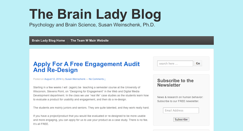The Brain Lady Blog