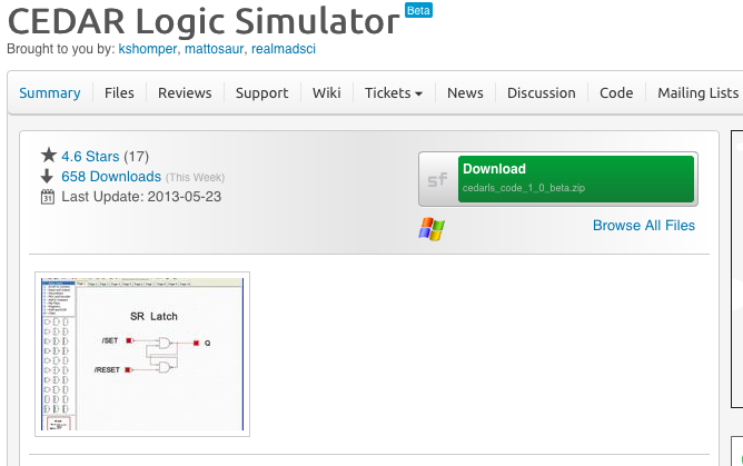 CEDAR Logic Simulator