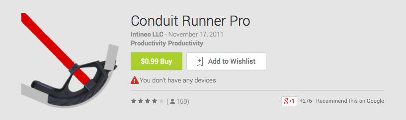 Conduit Runner Pro
