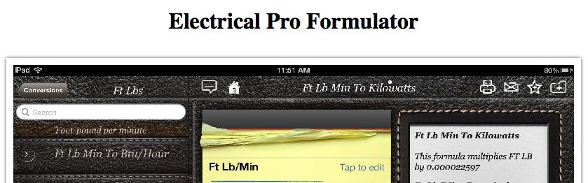 Electrical Pro Formulator