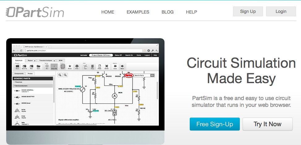 electronic circuit simulator software free