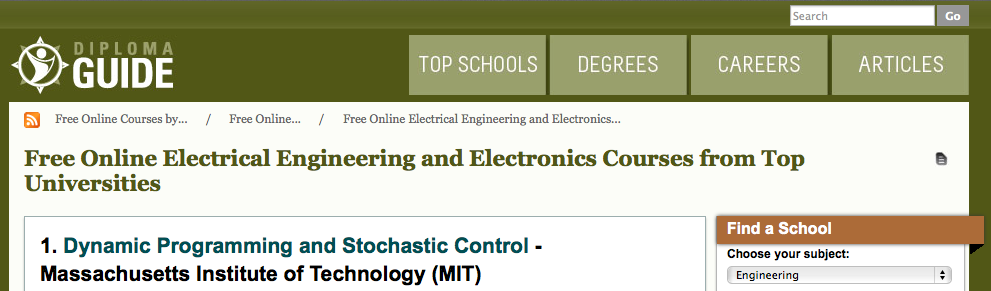 Learn electrical engineering 50 top online courses books more diploma guide offers free online electrical engineering and electronics courses from some of the top universities including massachusetts institute of fandeluxe Images