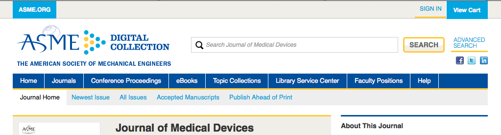 Journal of Medical Devices