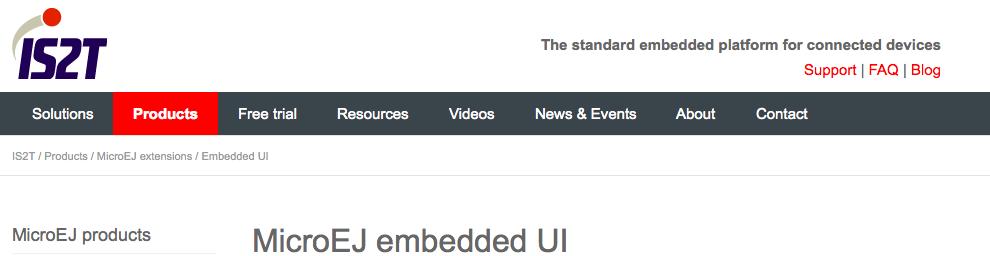 MicroEJ embedded UI