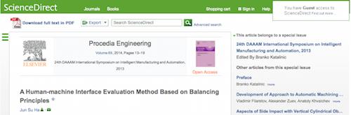 A Human-machine Interface Evaluation Method Based on Balancing Principles