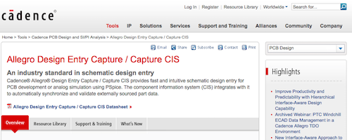 Allegro Design Entry Capture:Capture CIS
