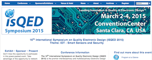 16th International Symposium on Quality Electronic Design (ISQED)