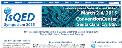 16th International Symposium on Quality Electronic Design (ISQED)