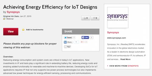 Achieveing Energy Efficiency for IoT Designs