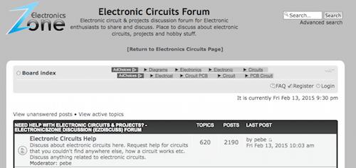 Electronic Circuits Forum