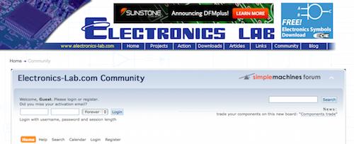 Electronics Lab Community