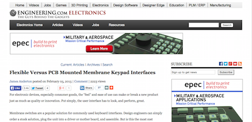 Flexible Versus PCB Mounted Membrane Keypad Interfaces