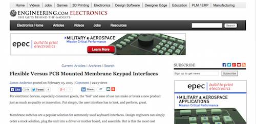 Flexible Versus PCB Mounted Membrane Keypad Interfaces