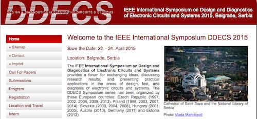 IEEE International Symposium DDECS 2015