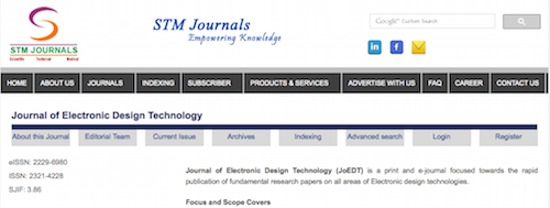 Journal of Electronic Design Technology (JoEDT)