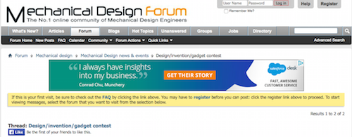 Mechanical Design Forum