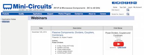 Mini-Circuits Webinars