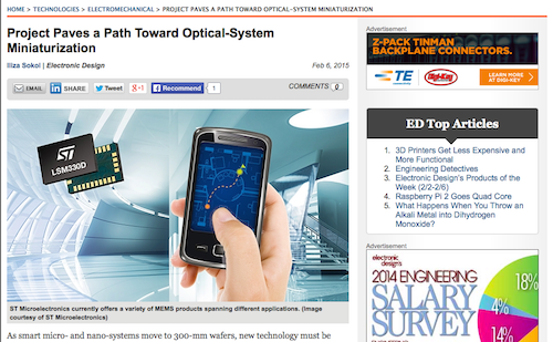 Project Paves a Path Toward Optical-System Miniaturization