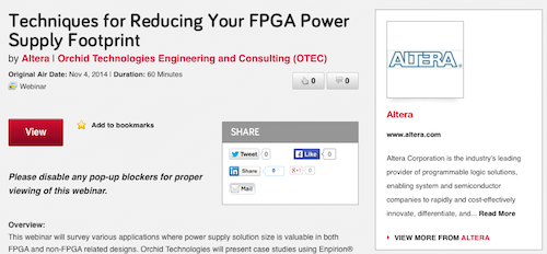 Techniques for Reducing Your FPGA Power Supply Footprint