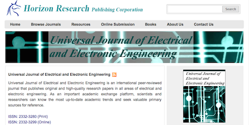 Universal Journal of Electrical and Electronic Engineering