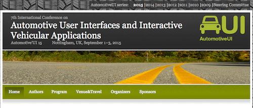 Automotive User Interfaces and Interactive Vehicular Applications