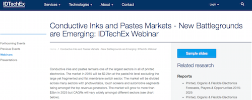 Conductive Inks and Pastes Markets