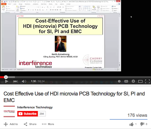 Cost Effective Use of HDI microvia PCB Technology for SI, PI and EMC