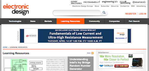 Electronic Design Learning Resources