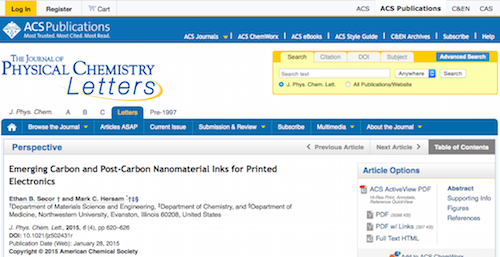 Emerging Carbon and Post-Carbon Nanomaterial Inks for Printed Electronics