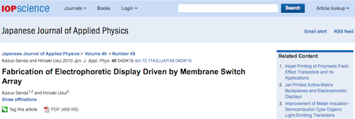 Fabrication of Electrophoretic Display Driven by Membrane Switch Array