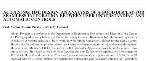 HMI Design An Analysis of a Good