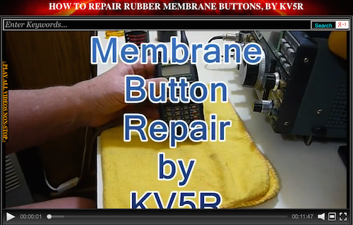 How to Repair Rubber Membrane Buttons, by KV5R