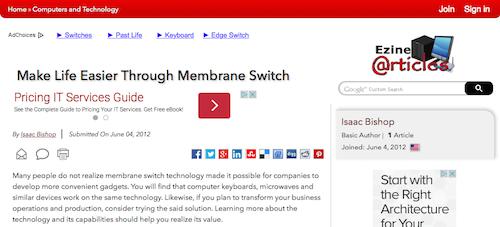Make Life Easier Through Membrane Switch