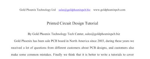 Printed Circuit Design Tutorial