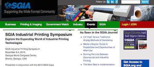 SGIA Industrial Printing Symposium