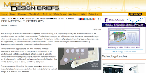 Seven Advantages of Membrane Switches For Medical Electronics