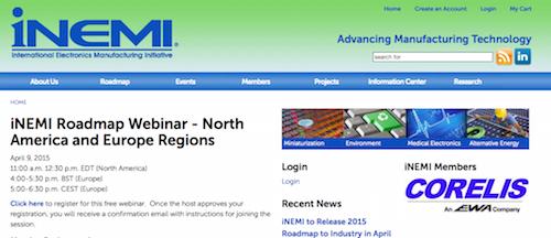 iNEMI Roadmap Webinar - North America and Europe Regions