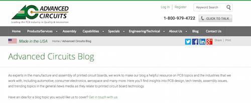 Advanced Circuits Blog