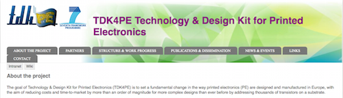 TDK4PE Technology & Design Kit for Printed Electronics