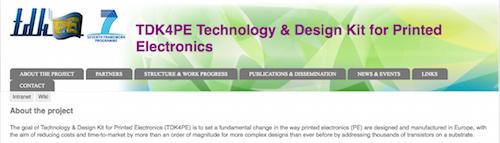 TDK4PE Technology & Design Kit for Printed Electronics