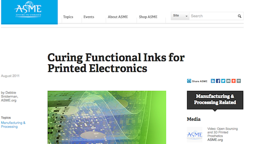 Curing Functional Inks for Printed Electronics