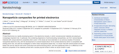 Nanoparticle composites for printed electronics