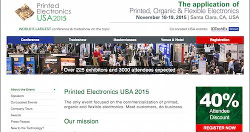 Printed Electronics USA 2015