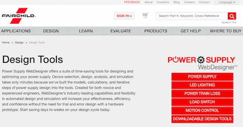 Power Supply WebDesigner