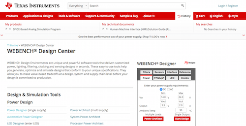 WEBENCH Design Center
