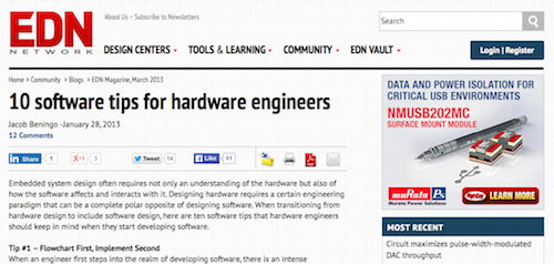 10 Software Tips for Hardware Engineers
