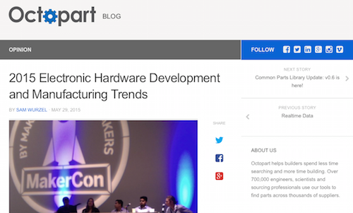 2015 Electronic Hardware Development and Manufacturing Trends