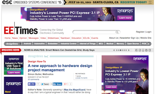 A New Approach to Hardware Design Project Management