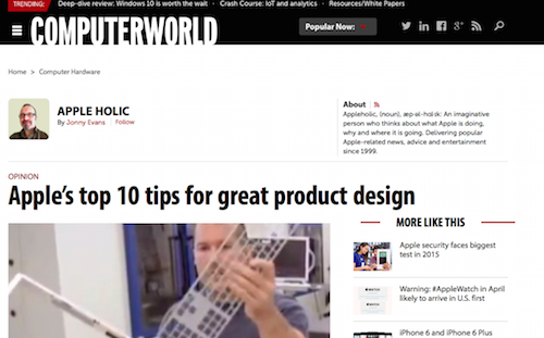 Apple's Top 10 Tips for Great Product Design